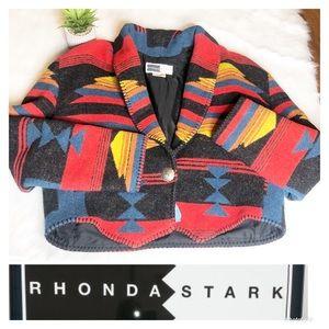 Rhonda Stark | Vintage Boho Western Blanket Jacket
